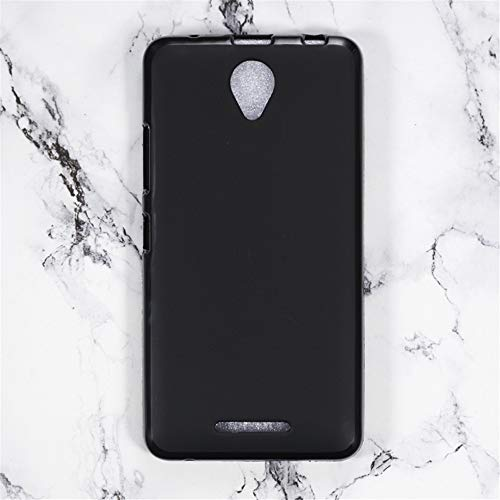 Lenovo A5000 Case, Scratch Resistant Soft TPU Back Cover Shockproof Silicone Gel Rubber Bumper Anti-Fingerprints Full-Body Protective Case Cover for Lenovo A5000 (Black)