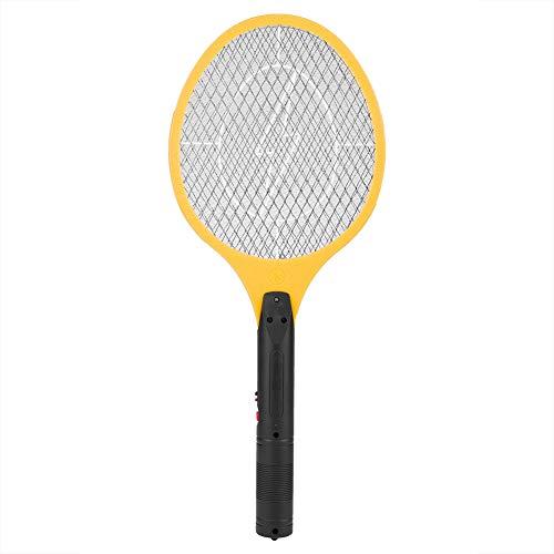 RANNYY Matador de Mosquitos eléctrico, matamoscas de Mosquitos eléctrico Recargable inalámbrico, Matador de Insectos, Raqueta(Amarillo)