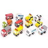 Tylyund Vehículos de construcción 12 Unids / Set Coches Modelo De Transporte Juguete Niños Regalo De Cumpleaños