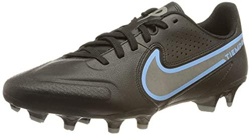 Nike Herren Legend 9 Academy Fg/Mg Fußballschuh, Black/Black-Iron Grey, 47 EU