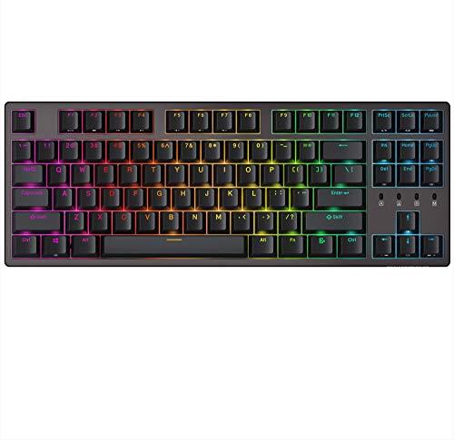 Durgod K320 Nebula TKL Mechanische Gaming-Tastatur – 87 Tasten – Double Shot PBT – USB Typ C (Cherry Brown, RGB)