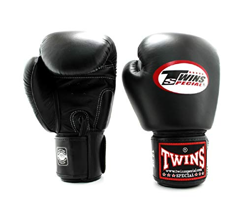 Twins Gloves for Training and Sparring Boxing, Muay Thai, Kickboxing, MMA (Black,8 oz)