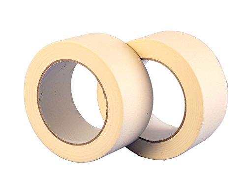 2 Stück - 50 mm x 50 m Premium, hochwertige, Malen und Dekorieren, Kreppband, 2 Stück, von Gocableties, weiß