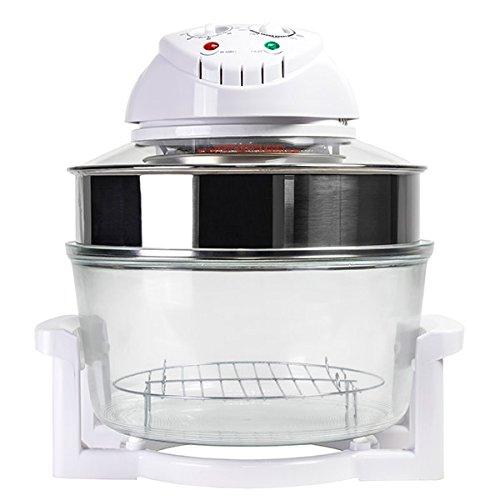 Konvektionsofen Heißluftofen Combi Grill Premium 12 l 1200-1400 W Halogen Oven | Umluftofen für die Zubereitung Ihrer Lieblingsgerichte praktisch ohne Öl und Fett