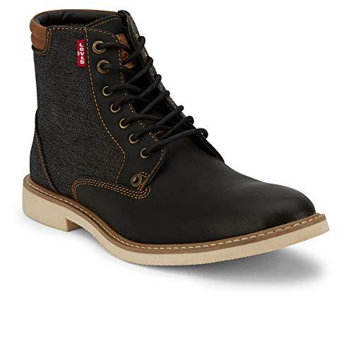Levi's Mens Windham Fashion Casual Denim Boot, Black, 9.5 M