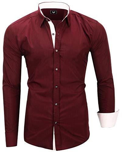 Kayhan Herren Hemd, TwoFace Bordeaux M