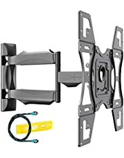 Invision Ultra Strong TV Wall Bracket Mount Single Arm Tilt & Swivel for 26-60 Inch LED LCD OLED 4K HDR Smart Flat & Curved Screens - Max. VESA 400x400mm - Max Load Capacity 40kg (HDTV-L)