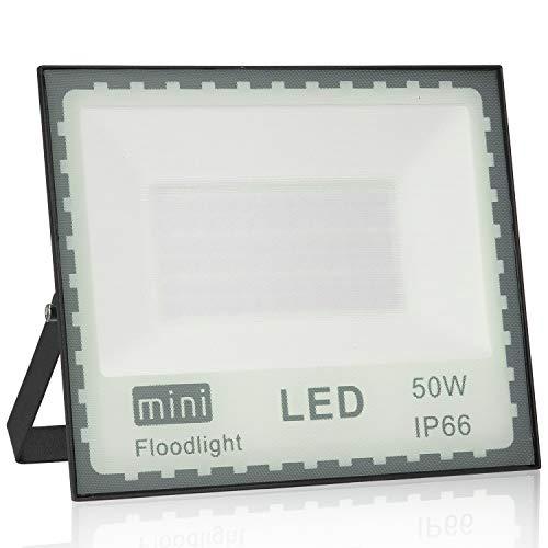 Faro LED Esterno 50W Bianco Caldo, Faro LED 50w Impermeabile IP66 Alta luminosità faretto LED Esterno 4500lm SMD2835 Faro LED