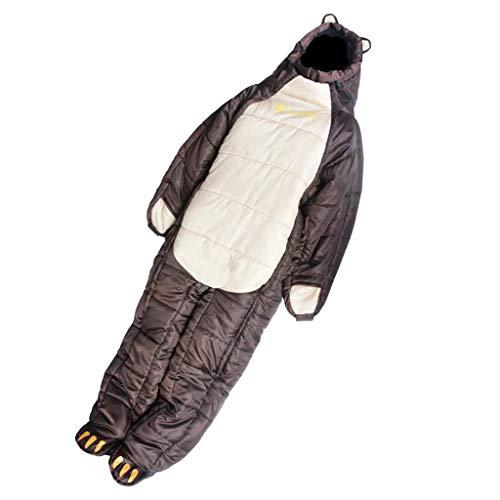 MERIGLARE Mochilero Al Aire Libre Que Acampa El Saco De Dormir Usable Adulto del Viaje, Diseño del Oso - S