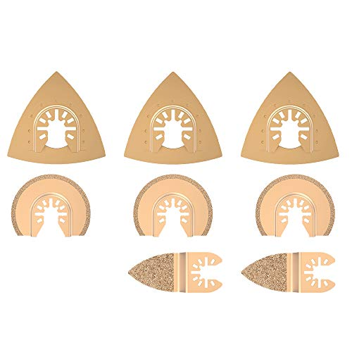 8 Stk Oszillierendes Zubehör Set Mix Multitool Sägeblätter Kit Multifunktionswerkzeug für Kunststoff/Holz/Soft Metal Cutting für Fein Multimaster Dremel Makita Einhell
