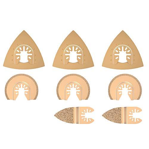 8 Stk Oszillierendes Zubehör Set Mix Multitool Sägeblätter Kit Multifunktionswerkzeug für Kunststoff/Holz/Soft Metal Cutting für Fein Multimaster Dremel Dewalt Makita Einhell
