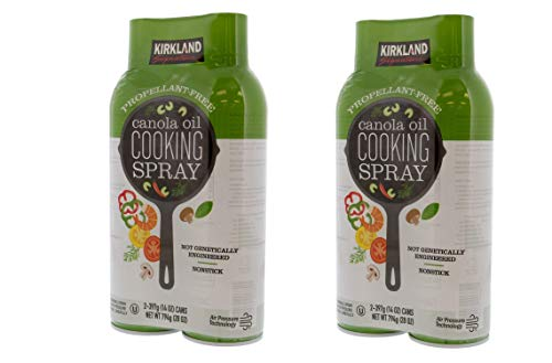 Kirkland Signature Canola Oil Cooking Spray 2-397g (14 oz) Cans (2 x 397 g (14 oz))