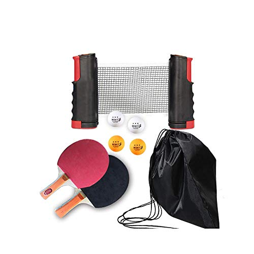 Affordable YZH LLC Portable Ping Pong Table Tennis Racket 1.9M Telescopic Net 4 Balls Rack 1 Pair Ta...