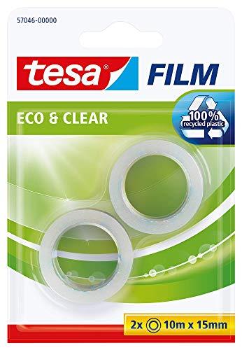 Tesa film Eco & Clear transparent, 10m:15mm, 2 Rollen im Blister