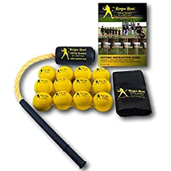 top 10 batting training tools Rope Bat – The Perfect Combination of 12 Ball Rope Bats – Baseball and Softball Swing…