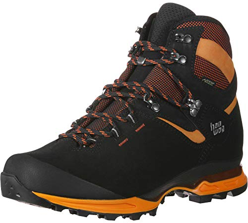 Hanwag Herren Tatra Light GTX Trekking-& Wanderstiefel, Mehrfarbig (Black/Orange 012023), 42.5 EU
