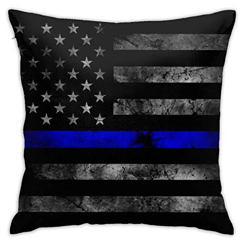 xinping Federa da tiro con Bandiera Americana Sottile Linea Blu, Fodera per Cuscino Fodera per Cuscino Quadrato per Divano Divano Letto Auto casa dic