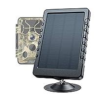 Campark トレイルカメラ用 ソーラーバッテリー 太陽光パネル 3000mAhバッテリー内蔵 6V 2A IP65防水 小型 軽量 太陽光 バッテリー充電