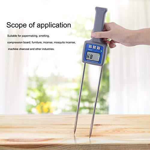 GKD Data Display Feuchtemessgerät Professional Für Holz Sägespäne Pulver Heu-Ballen Torf Feuchtigkeitsmesser Hygrometer Sawdust Bambus Mess