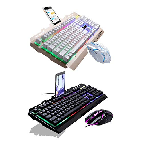 G700 Game Mouse y Teclado con Cable USB Brillante con Luces...