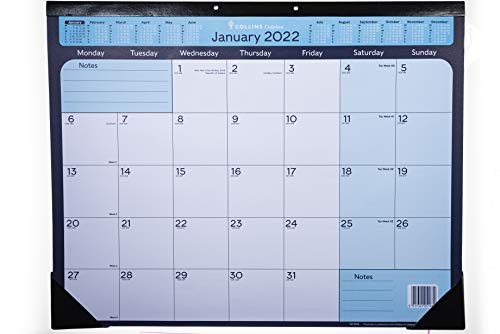 Collins Colplan 2022 A2 Monthly Desk Pad