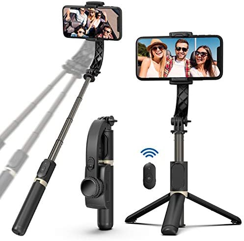 Selfie Stick Foldable Handheld Phone Gimbal Stabilizer with Bluetooth Remote and Tripod Eliminate product image