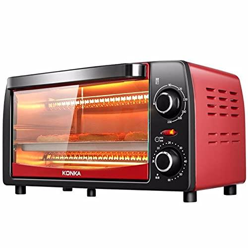 ZXAOYUAN 26L Mini Horno Eléctrico con Múltiples Funciones De Cocción Y Parrilla, Control De Temperatura Ajustable, Temporizador - 1050W con Lámpara