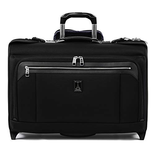 "Travelpro Luggage Platinum Elite 22"" Carry-on Rolling Garment Bag, Suitcase, Shadow Black"