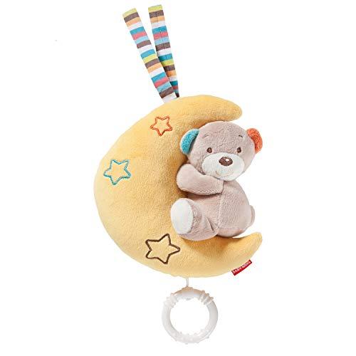 Baby-Nova Spieluhr Mond mit Teddy Bär, Einschlafhilfe für Babys, Musikspieluhr Brahms Wiegenlied, Schlafhilfe zum Aufhängen – weitere Melodien & Motive verfügbar