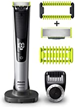 Philip Norelco OneBlade Pro Kit, Hybrid Electric Trimmer and Shaver with Charging Stand and Precision Comb, QP6520 + OneBlade Body Kit, 3 pieces, QP610, Black 4.0 Count