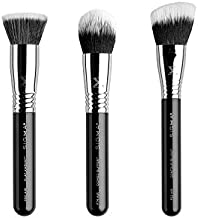 Sigma Beauty Complexion Air 3-Piece Skincare Brush Set with extra-soft SigmaTech fibers designed to apply and blend your favorite makeup formulas
