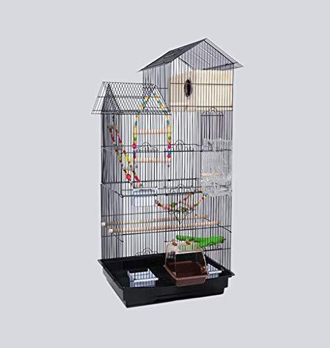FTFDTMY Gabbie per Uccelli in Stile House, scatole per Allevamento di Uccelli, Gabbie per Uccelli per canarini, parrocchetti di monaci, piccioni (Colore: E, Dimensioni: 46 * 36 * 100 cm)