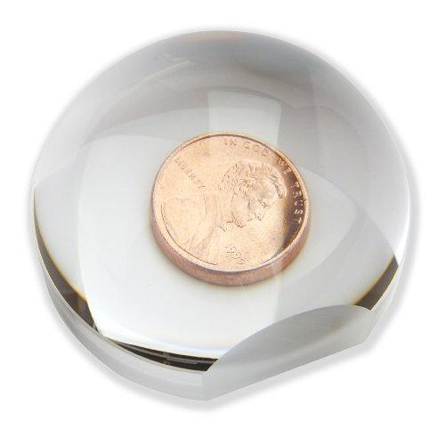 Carson LumiDome Plus – Standlupe in Kugelform mit 2-facher Vergrößerung und einem Durchmesser von 75 mm