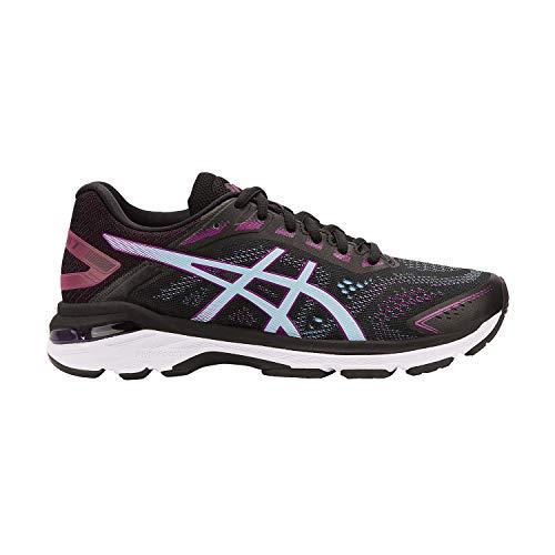ASICS Women's GT-2000 7 Running Shoes, 10, Black/Skylight