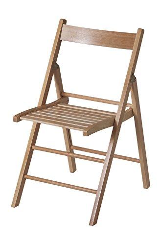 Bas Silla plegable madera haya para salón, comedor, cocina, estudio, escritorio, despacho, dormitorio, balcón, terraza interior, habitación juvenil, dormitorio. Pack 4 unidades