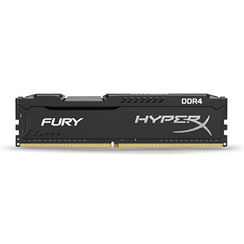 Kingston HX421C14FB2/8 Memoria RAM 8GB, HyperX Fury, DIMM, DDR4-2133Mhz, Class 14, color Negro