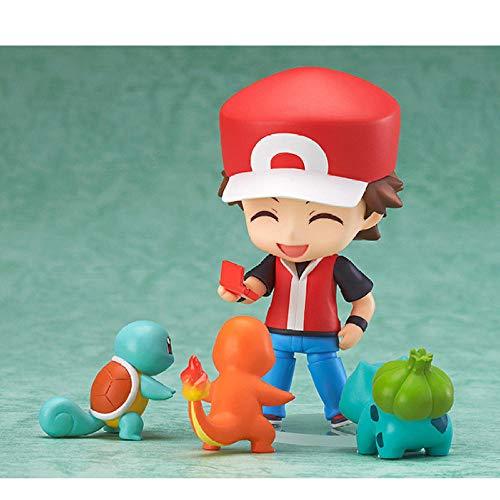 FJKYF Juguetes De Animecute Clay Pet Elf Pokemon Champion Edition Red Crimson Garage Kit Q Version Clay Magic Baby Pokemon Pet Elf Crimson Gift 10Cm