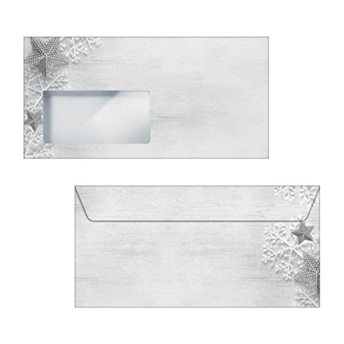SIGEL DU248 Buste natalizie, motivo: Frozen Stars, DL (110x220 mm), 50 pezzi