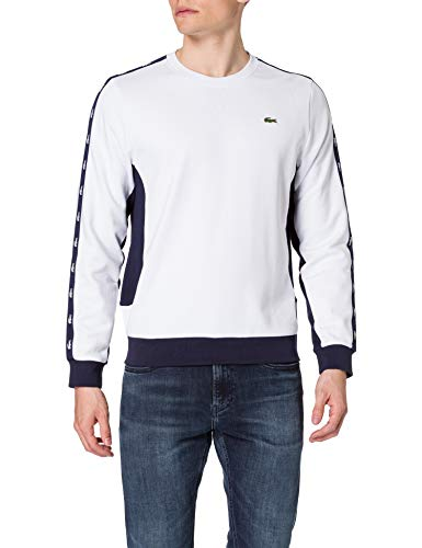 Lacoste SH5178 Sweater, Blanc/Marine, M Homme