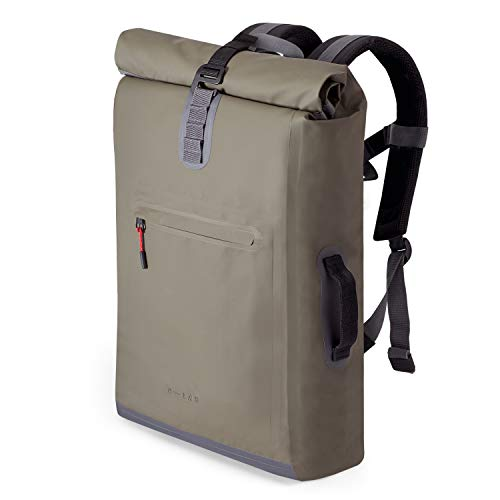 """A-Lab • Model D • Wasserdichter Fahrradrucksack • Messenger Backpack • Kurierrucksack aus robuster LKW Plane (26l) mit extra Hülle für 15"""" Laptop • Wasserdichter Rolltop • Designed in Berlin"""
