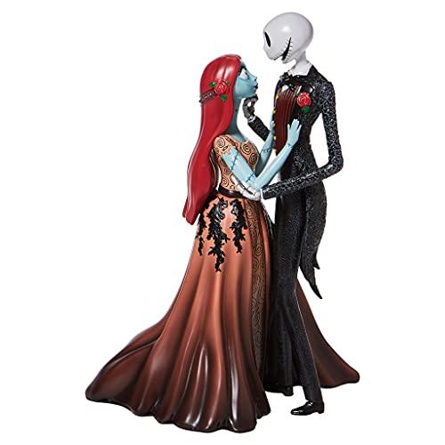 Enesco Disney Showcase Couture de Force The Nightmare Before Christmas Jack and Sally - Figura Decorativa (9,5 Pulgadas), Multicolor