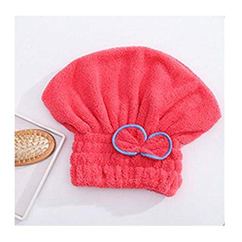 Plus fluwelen douchekap, dikke droge haardop, super absorberende ronde douchekap, droge handdoek, sneldrogende dop A6