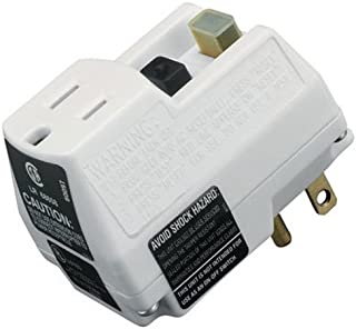 Southwire 14650006-6 Shockshield White Portable GFCI Plug with Surge Protection, Prefect for Power Tools, Portable, Prevents Unmonitored Equipment Startup, Ideal for Indoor Use, 120V/15A (Renewed)