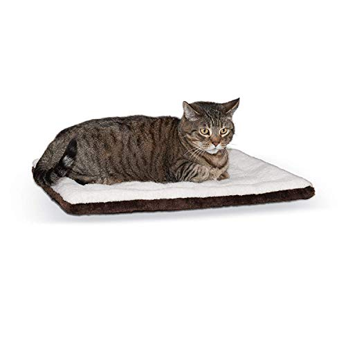 K&H PET PRODUCTS Self-Warming Pet Pad Oatmeal/Chocolate 21 X 17 Inches