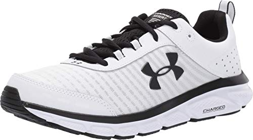Under Armour mens Charged Assert 8 Running Shoe, White (102 White, 12 US