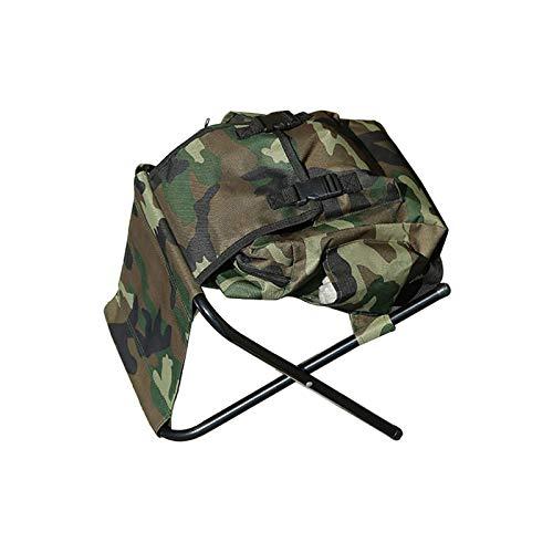 HUI JIN Silla plegable para acampar pescar, mochila con bolsa de picnic para exteriores