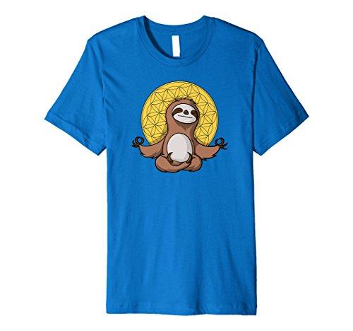 Lazy Faultier Blume des Lebens Yoga Zen Spirituelle T-Shirt