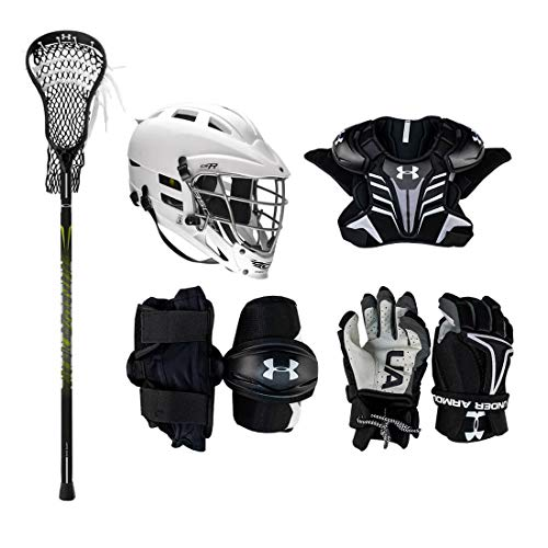 Under Armour Strategy Youth Lacrosse Starter Set W/Complete Stick (Cascade CS-R Helmet)-Adult-XSmall