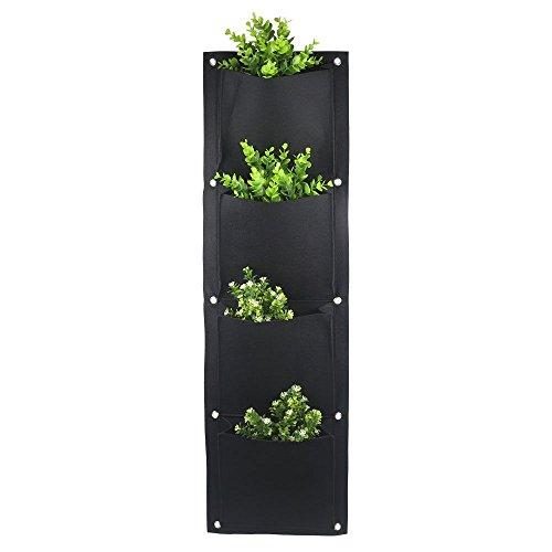 KISSTAKER Gardens 4 Pocket Vertical Wall Garden Planter Wall-Mounted Plant...