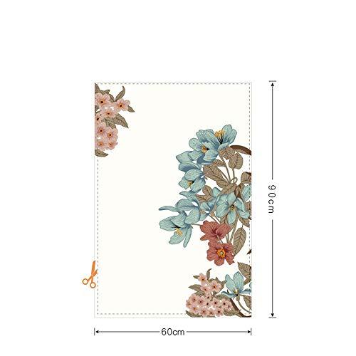 KUNHAN Frosted raamsticker op maat gemaakte bloem statische frisse raamfolie mat ondoorzichtig privacy gekleurd glas stickers huisdecoratie digitale afdrukken venster Sticker